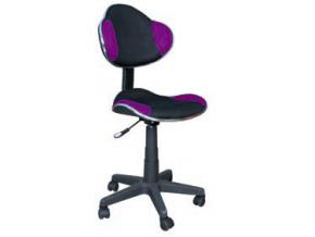 Detská stolička Q-G2 fialovo-čierna