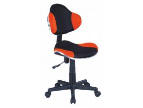 Detská stolička Q-G2 látka oranžovo-čierna