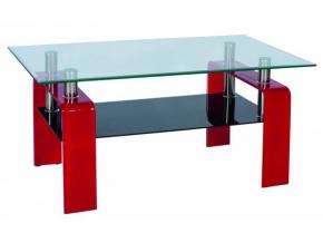 Konferenčný stolík STELLA / červená
