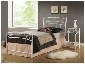 Jednolôžková posteľ SIENA 90 biela