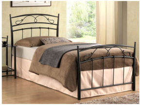 Jednolôžková posteľ SIENA 90 čierna