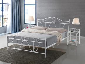 moderna kovova biela manzelska postel DEMVER biela