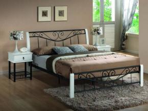 Manželská posteľ PARMA 160 biela/čierna