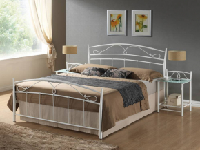 Manželská posteľ SIENA biela