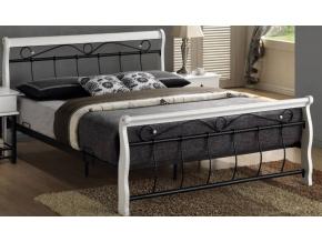Manželská posteľ VENECJA bielo-čierna 160x200