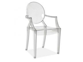 Jedálenská stolička LUIS / priehľadná