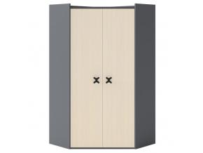 Rohová šatníková skriňa Iks X-02