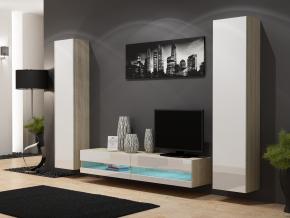 Obývacia stena Vigo NEW 4 dub sonoma/biely lesk
