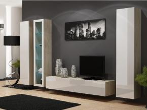 Obývacia stena Vigo 2A dub sonoma/biely lesk