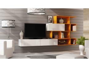 Obývacia stena Vigo 16 biela / oranžová