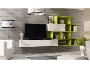 Obývacia stena Vigo 16 biela / zelená