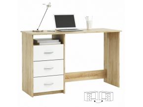 PC stôl Laristote dub sonoma/biela