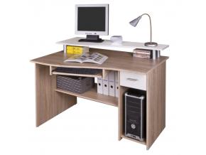 PC stolík PLUTO dub sonoma/biela