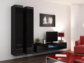 Obývacia stena Vigo 19 čierna-čierna