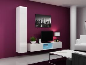 Obývacia stena Vigo 21 biela-biela