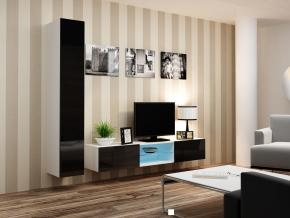 Obývacia stena Vigo 21 biela-čierna