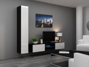 Obývacia stena Vigo 21 čierna-biela