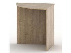 Rohový oblúkový stôl TEMPO ASISTENT NEW 024