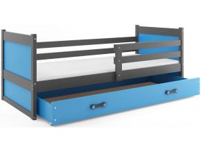 Detská posteľ RICO 1 / SIVÁ 190x80