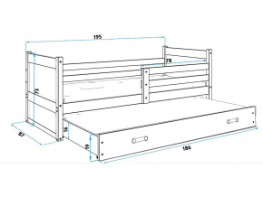 Detská posteľ RICO 2 / BOROVICA 190x80