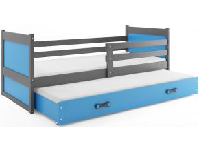 Detská posteľ RICO 2 / SIVÁ 200x90