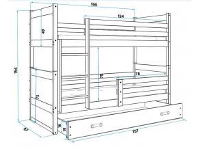 Detská poschodová posteľ RICO / BIELA 160x80