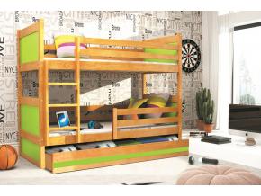 Detská poschodová posteľ RICO / JELŠA 160x80