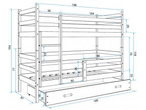Detská poschodová posteľ RICO / BIELA 190x80