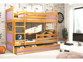 Detská poschodová posteľ RICO / JELŠA 190x80