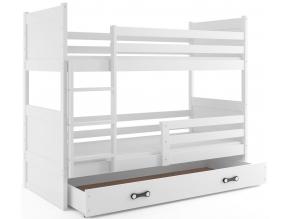 Detská poschodová posteľ RICO / BIELA 200x90