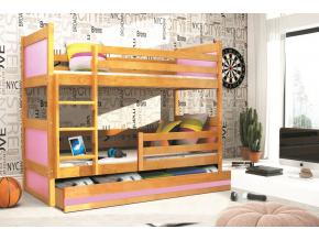 Detská poschodová posteľ RICO / JELŠA 200x90