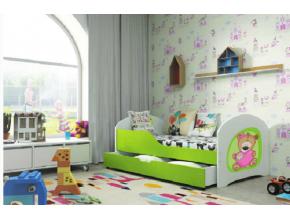 Detská posteľ TIMI / ZELENÁ 140x80