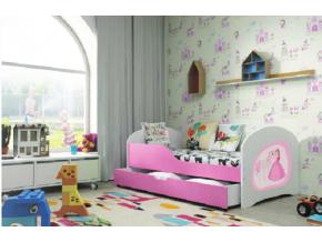 Detská posteľ TIMI / RUŽOVÁ 140x80
