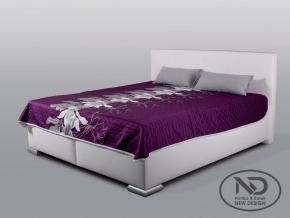 moderna biela celocalunena manzelska postel MIA