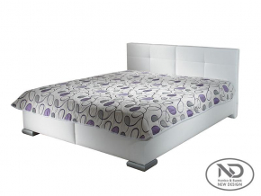 moderna biela manzelska calunena postel DINA