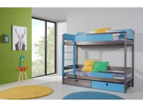 Detská drevená poschodová posteľ NATU II