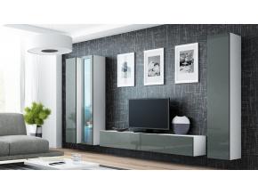 Obývacia stena VIGO II biela / sivá