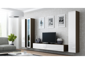 Obývacia stena VIGO II latte / biela