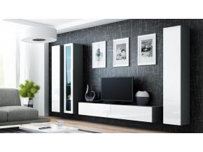 Obývacia stena VIGO II sivá / biela