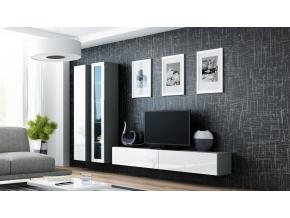 Obývacia stena VIGO III sivá / biela