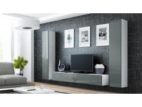 Obývacia stena VIGO IV biela / sivá