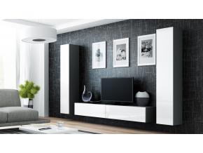 Obývacia stena VIGO IV sivá / biela