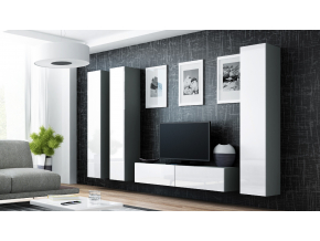 Obývacia stena VIGO 14 sivá / biela