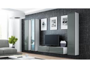 Obývacia stena VIGO 15 biela / sivá