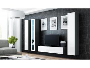 Obývacia stena VIGO 15 sivá / biela