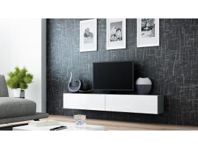 RTV stolík VIGO 180 sivá / biela