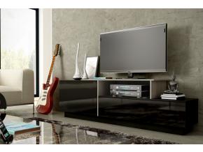 TV stolík SIGMA 3 - čierna/čierny lesk/sonoma