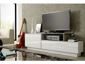 TV stolík SIGMA 3 - biela/biely lesk/sonoma