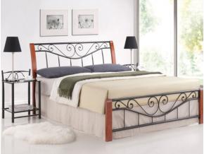 Manželská posteľ PARMA / 140 čerešňa
