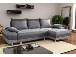 Rohová sedacia súprava PUNTOS / sivá-soft cappucino